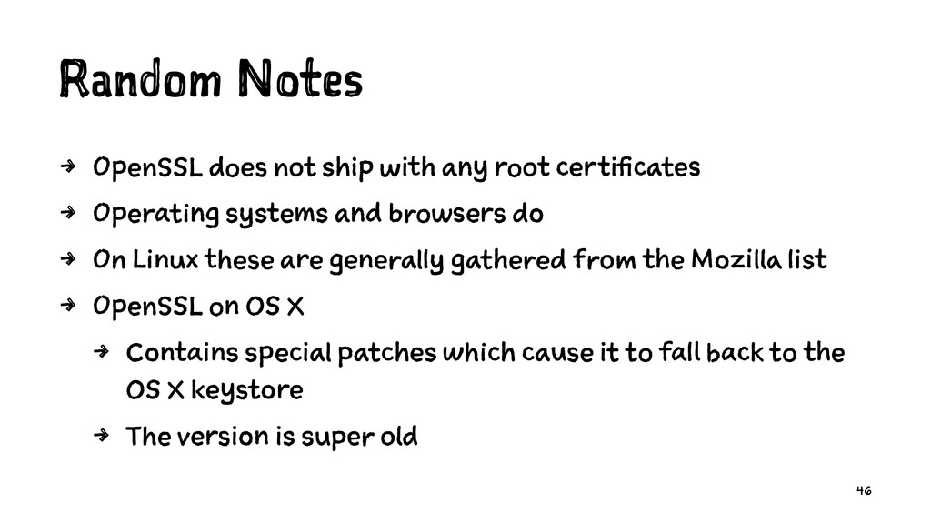Random Notes 4 OpenSSL does not ship with any r...