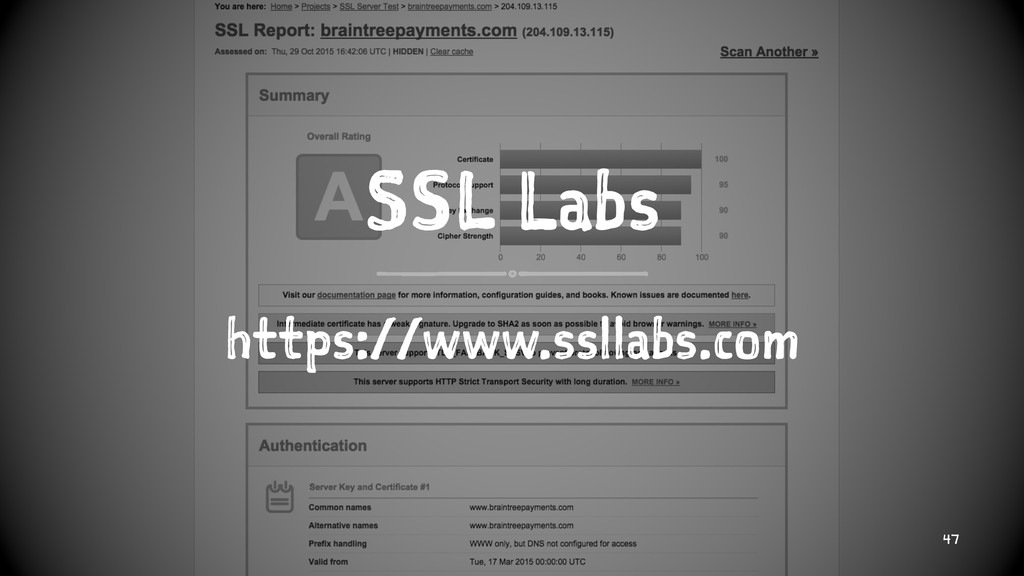 SSL Labs https://www.ssllabs.com 47