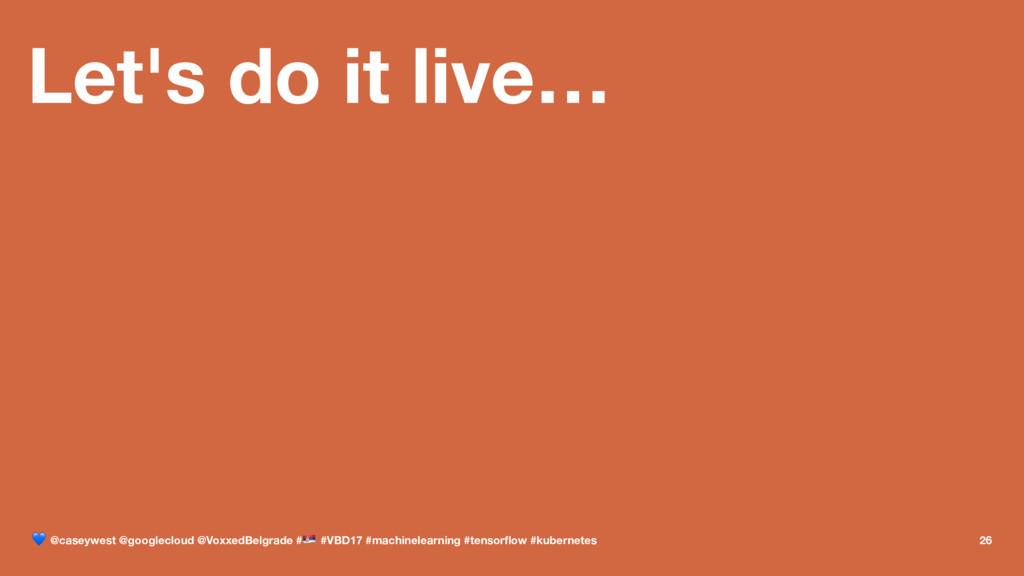 Let's do it live… ! @caseywest @googlecloud @Vo...