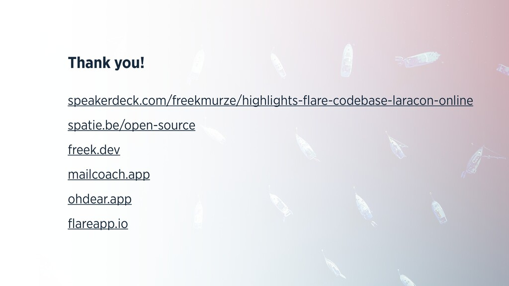 Thank you! speakerdeck.com/freekmurze/highlight...
