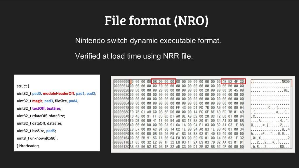 File format (NRO) Nintendo switch dynamic execu...