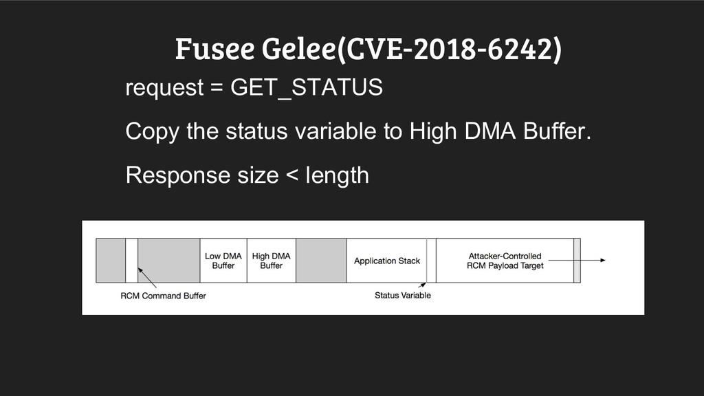 Fusee Gelee(CVE-2018-6242) request = GET_STATUS...