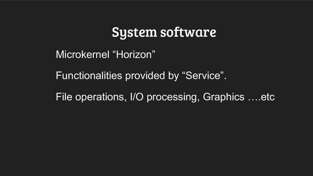 "System software Microkernel ""Horizon"" Functiona..."