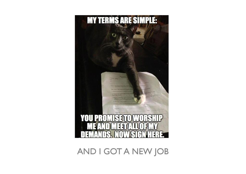 AND I GOT A NEW JOB