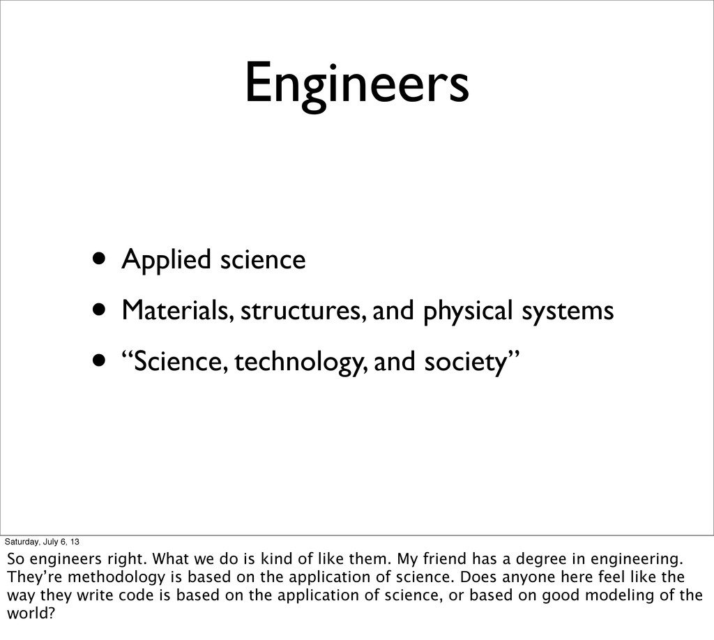 Engineers • Applied science • Materials, struct...