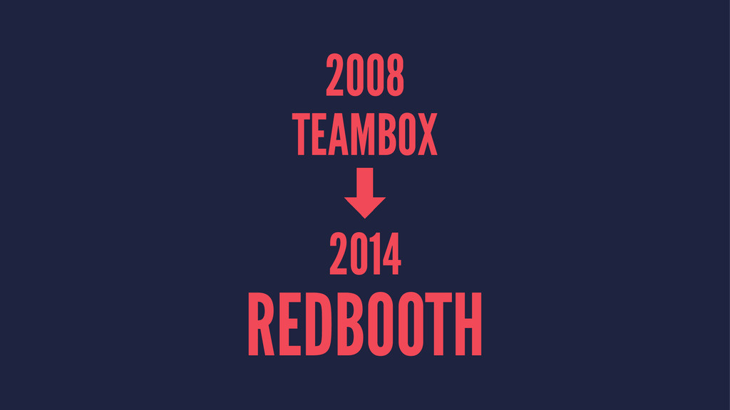 2008 TEAMBOX ‑ 2014 REDBOOTH