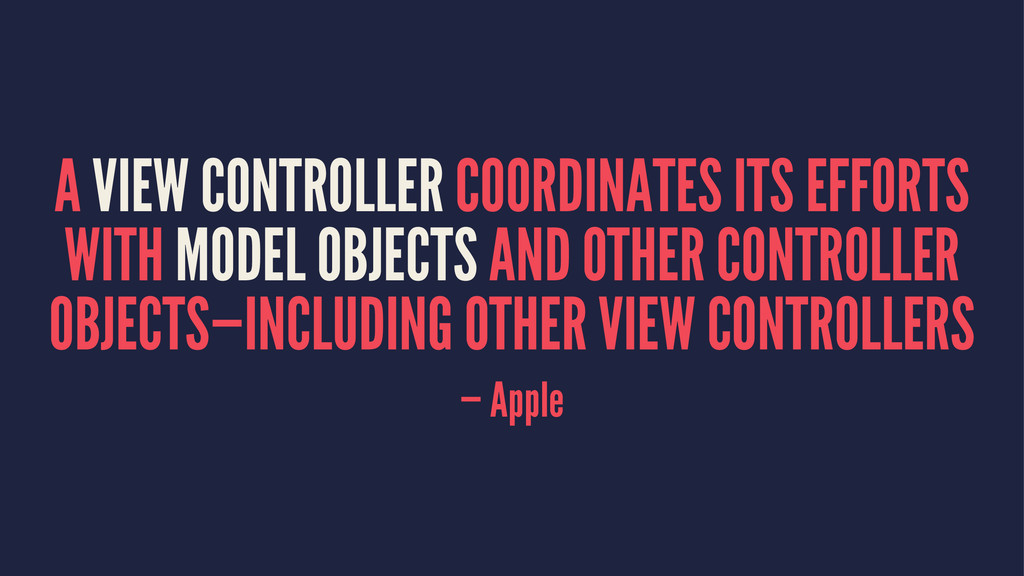 A VIEW CONTROLLER COORDINATES ITS EFFORTS WITH ...