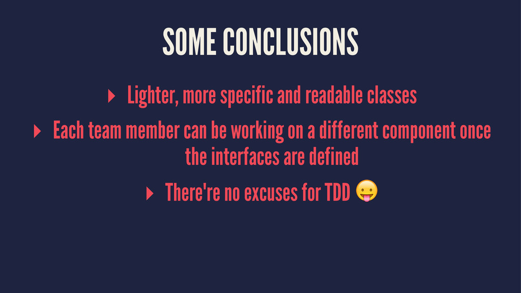 SOME CONCLUSIONS ▸ Lighter, more specific and r...