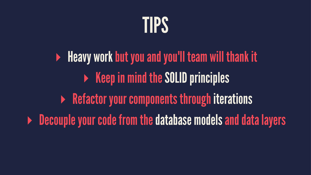 TIPS ▸ Heavy work but you and you'll team will ...