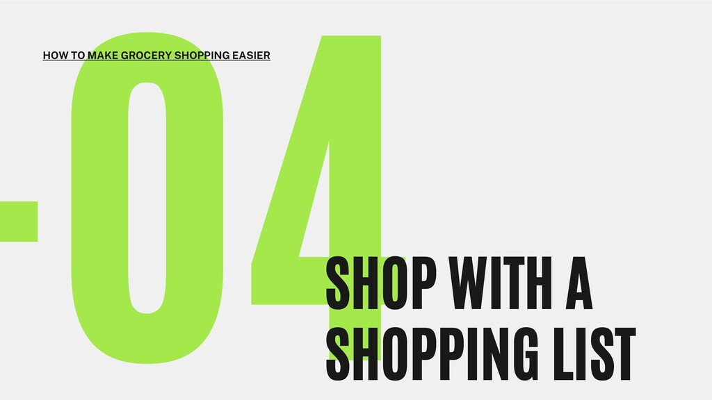 -04 SHOP WITH A SHOPPING LIST HOW TO MAKE GROCE...
