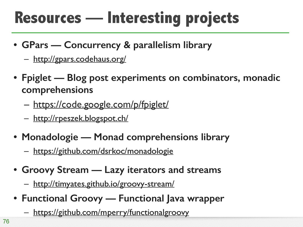 Resources — Interesting projects • GPars — Conc...