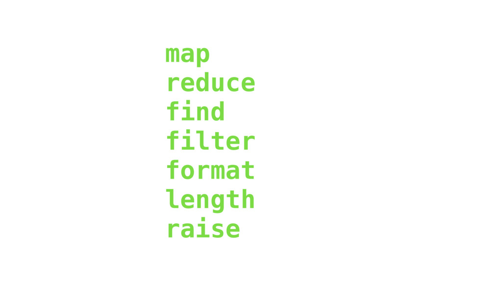 map reduce find filter format length raise