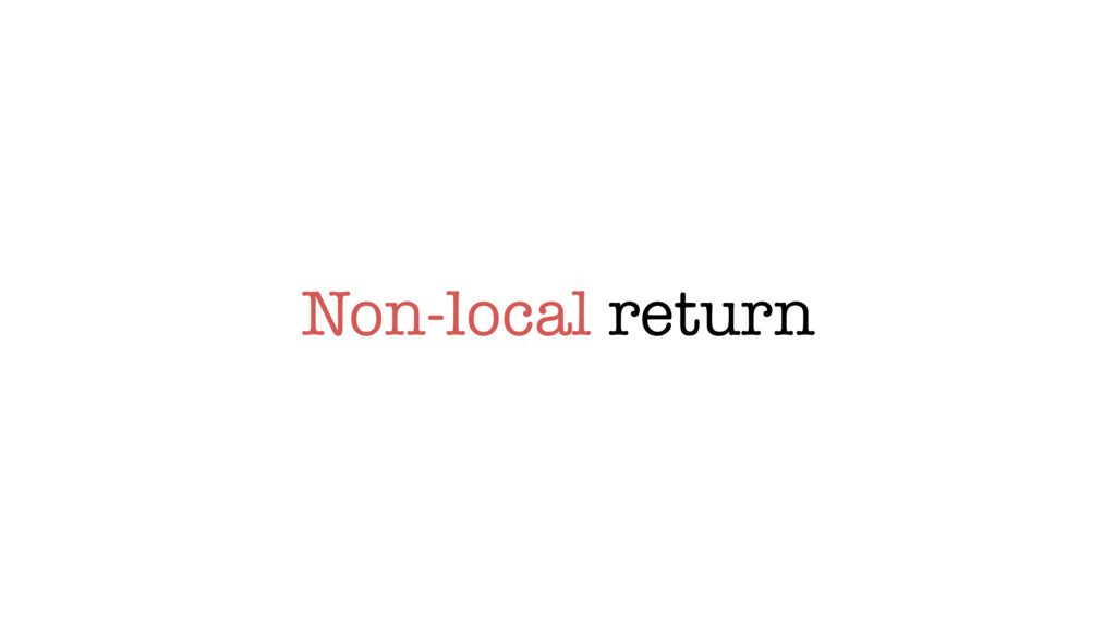 Non-local return