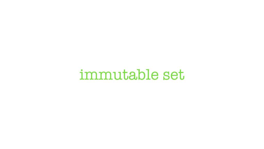 immutable set