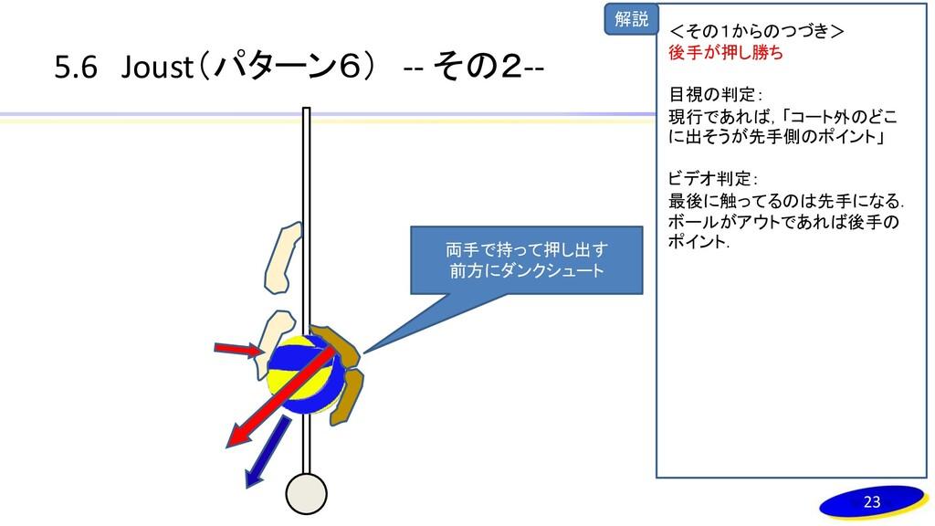 解説 5.6 Joust(パターン6) -- その2-- 両手で持って押し出す 前方にダンクシ...