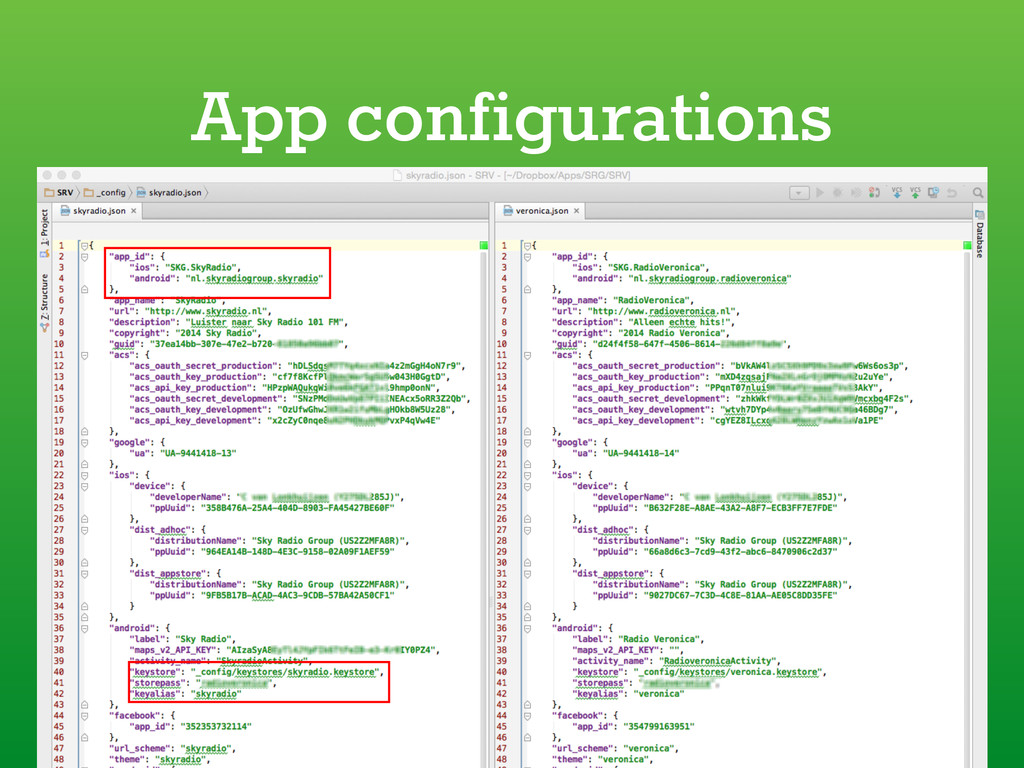 App configurations