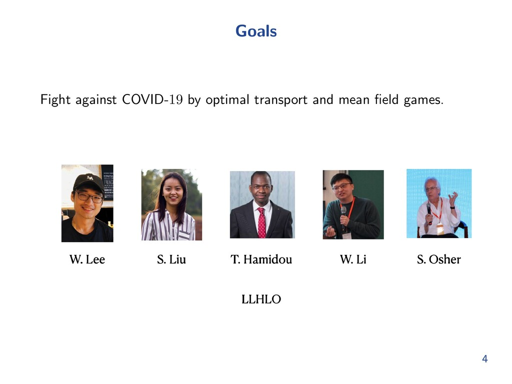 Goals Fight against COVID-19 by optimal transpo...