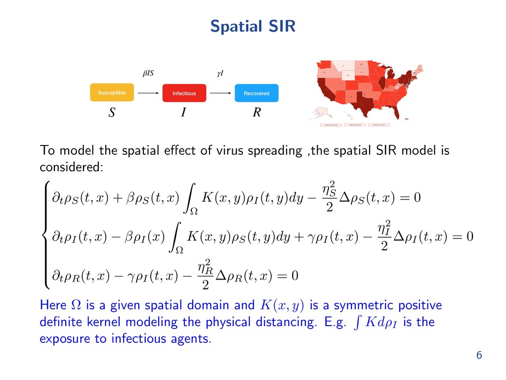 Spatial SIR To model the spatial e↵ect of virus...