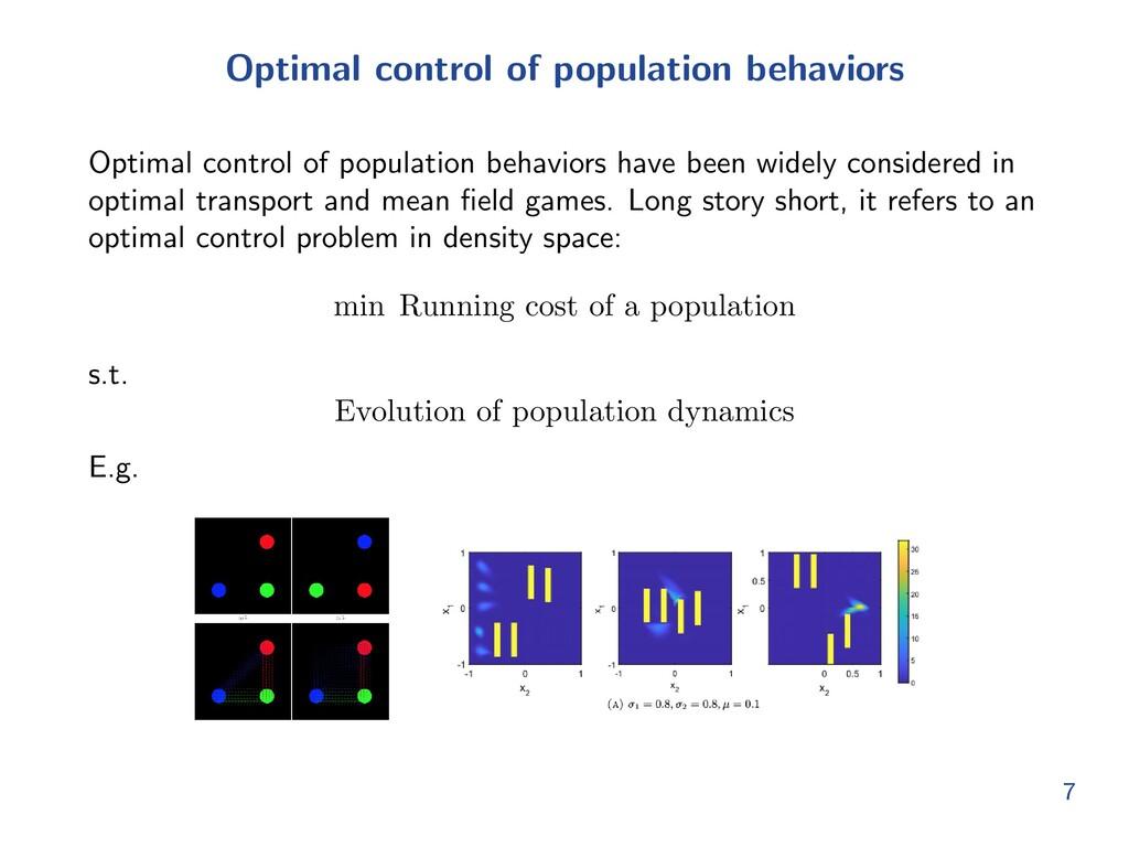 Optimal control of population behaviors Optimal...