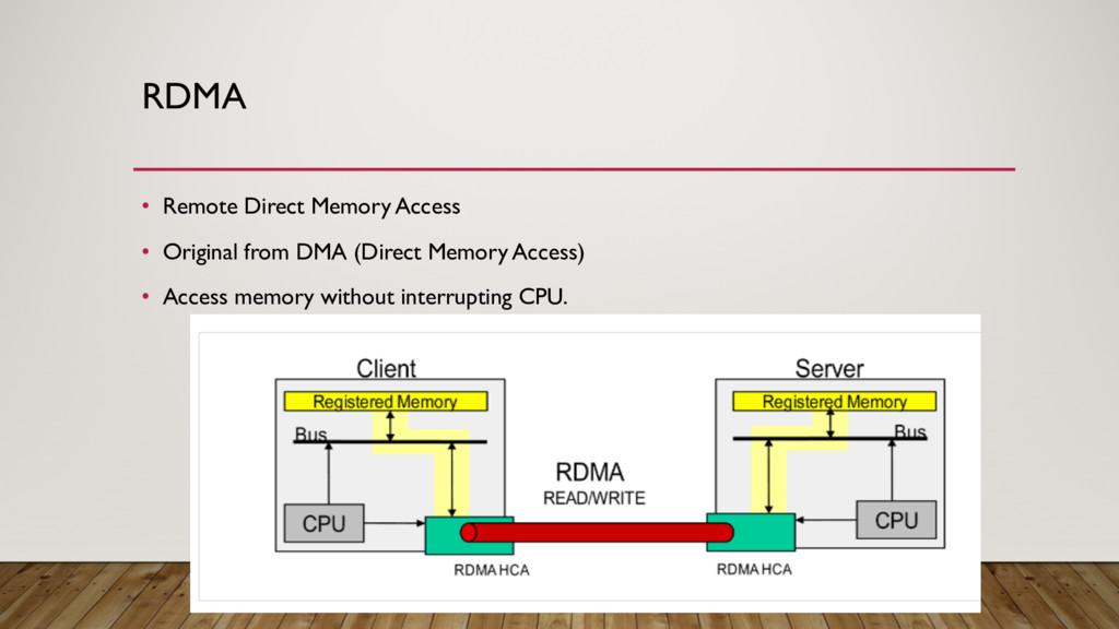 RDMA • Remote Direct Memory Access • Original f...