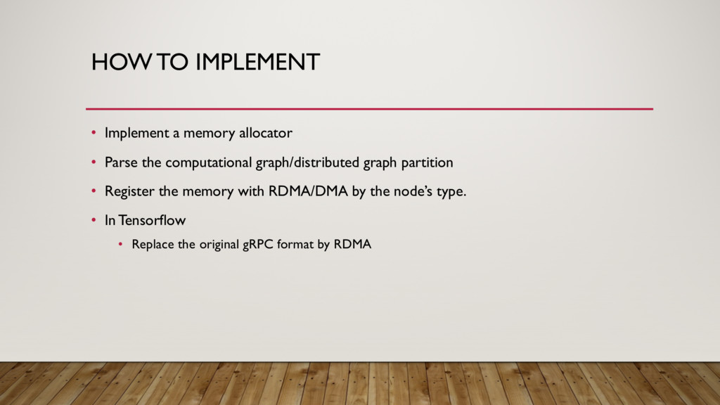HOW TO IMPLEMENT • Implement a memory allocator...