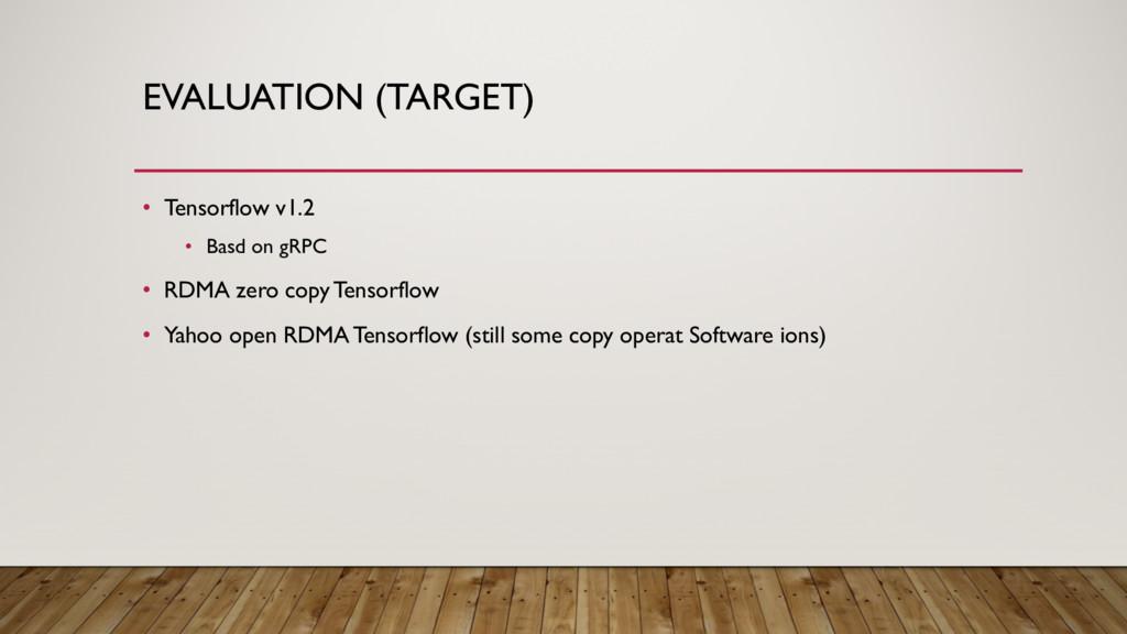 EVALUATION (TARGET) • Tensorflow v1.2 • Basd on...