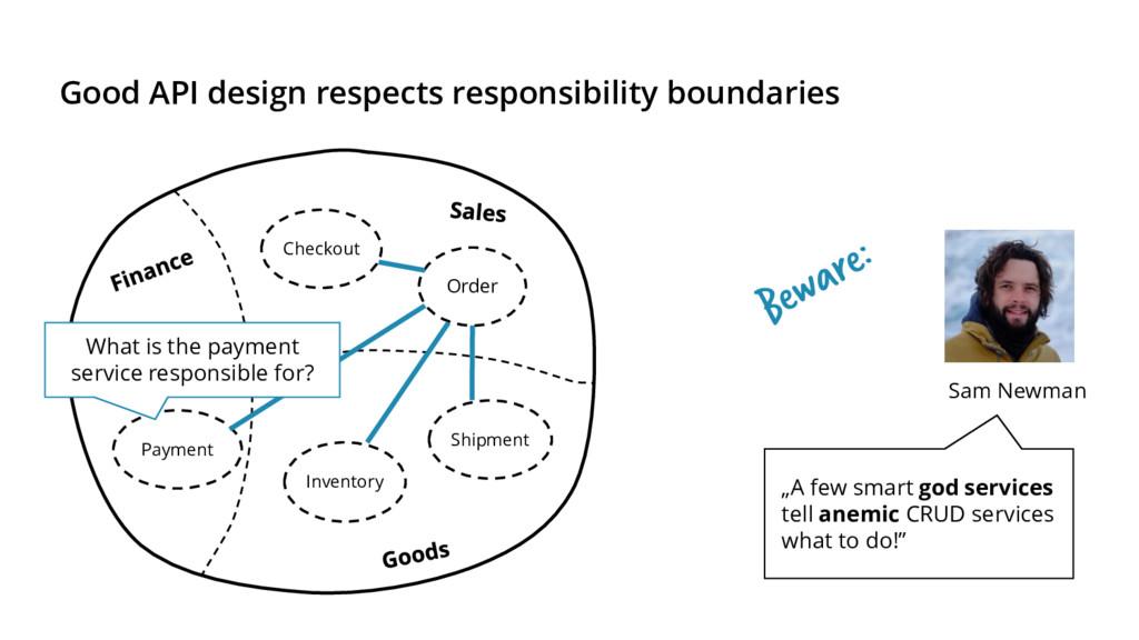 Good API design respects responsibility boundar...