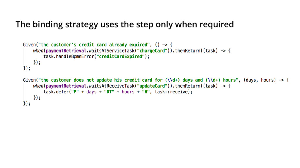 The binding strategy uses the step only when re...