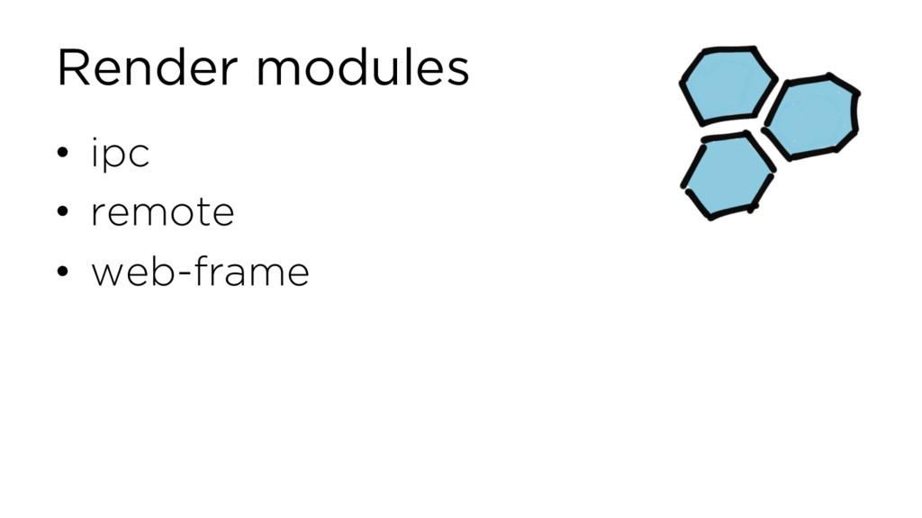Render modules • ipc • remote • web-frame