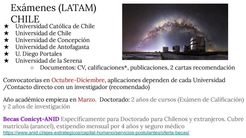 Exámenes (LATAM) CHILE ★ Universidad Católica d...