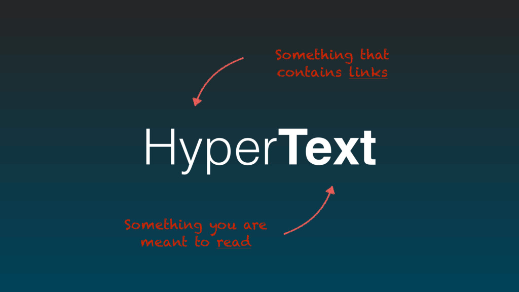 HyperText Something you are meant to read Somet...