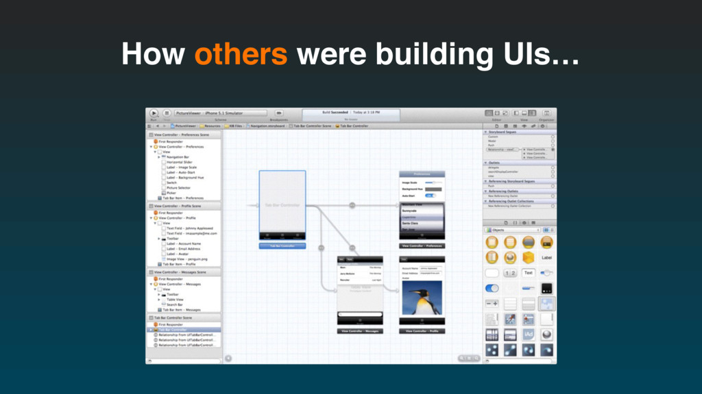 How others were building UIs…