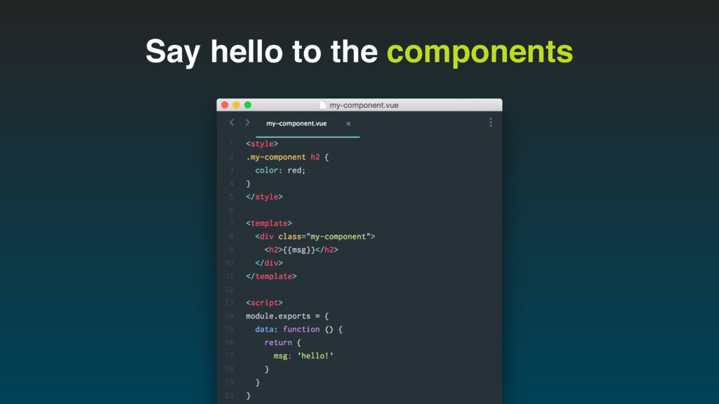Say hello to the components