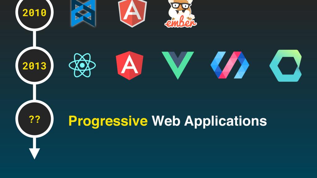 2010 2013 ?? Progressive Web Applications