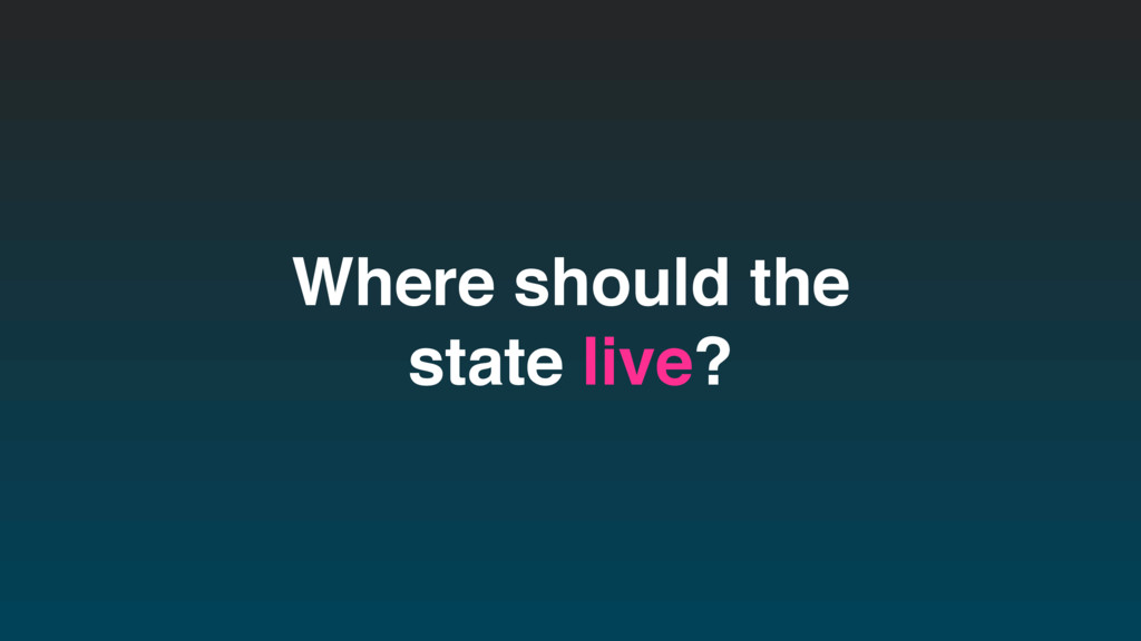 Where should the state live?