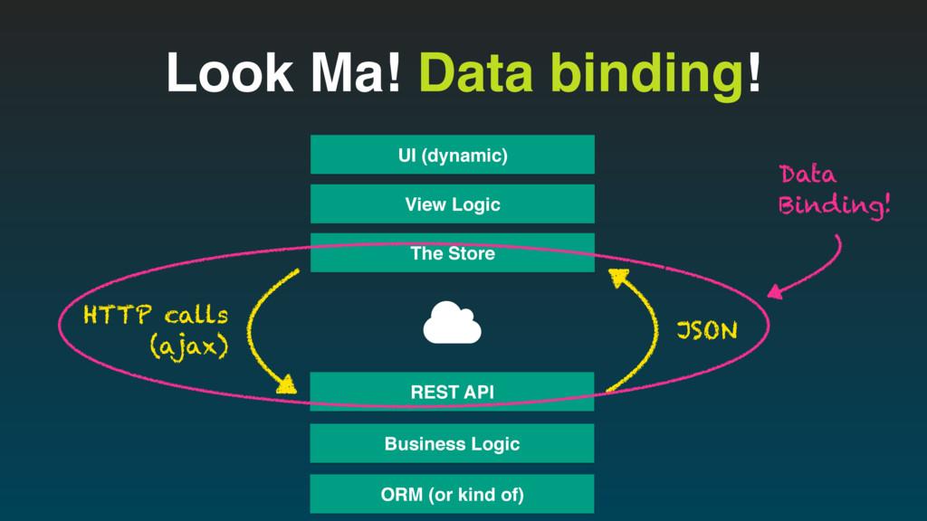 Look Ma! Data binding! View Logic UI (dynamic) ...