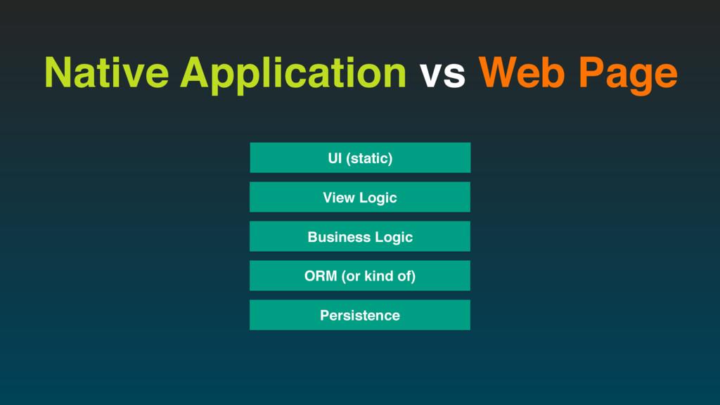 Native Application vs Web Page View Logic Busin...