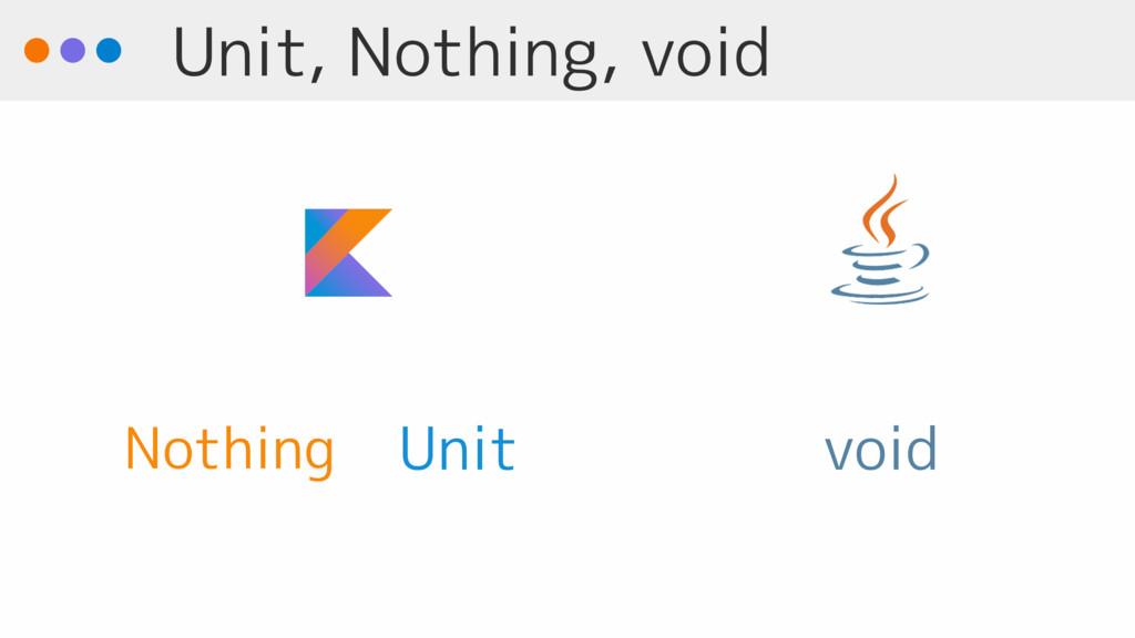 Unit, Nothing, void void Unit Nothing