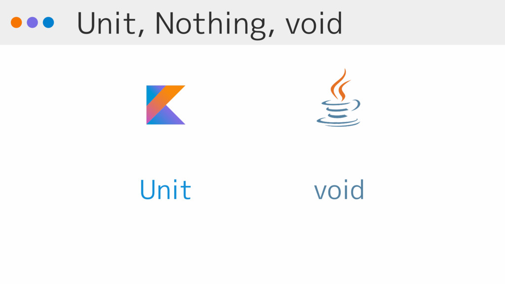 Unit, Nothing, void void Unit