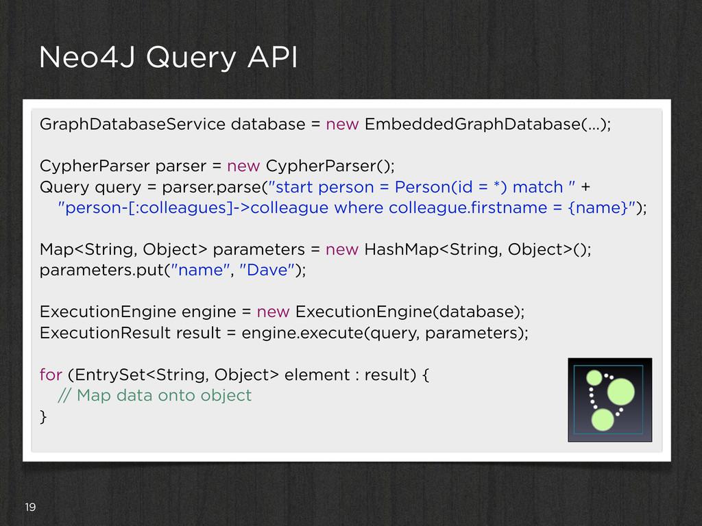 19 Neo4J Query API GraphDatabaseService databas...