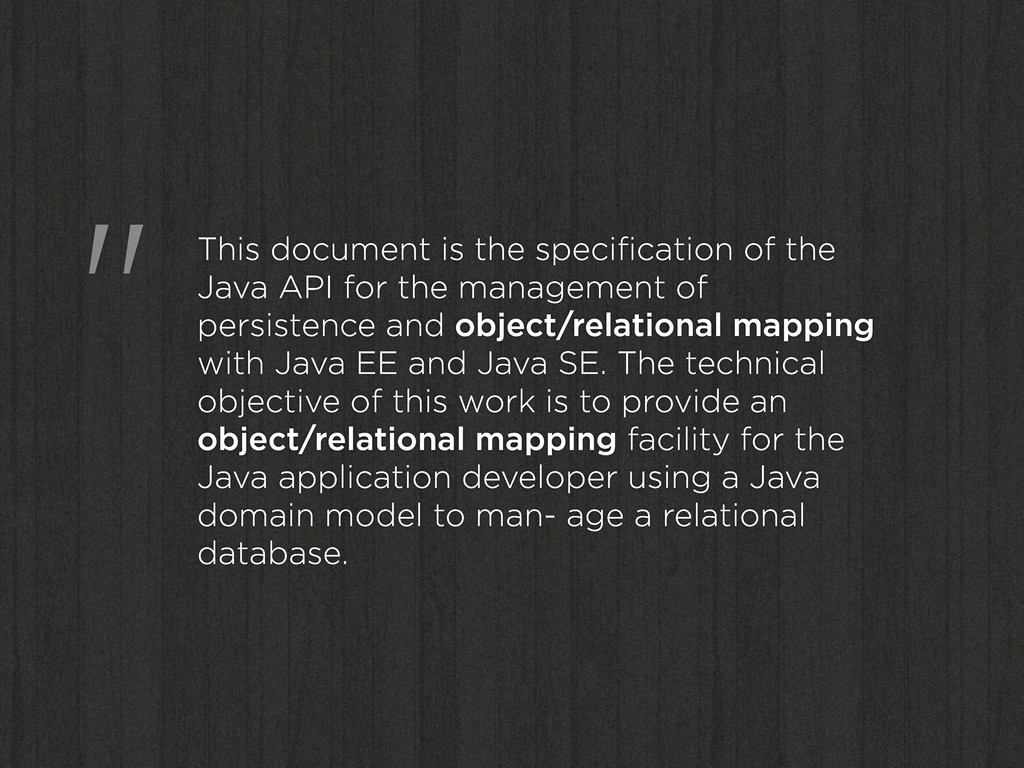 """"""" This document is the specification of the Java..."""