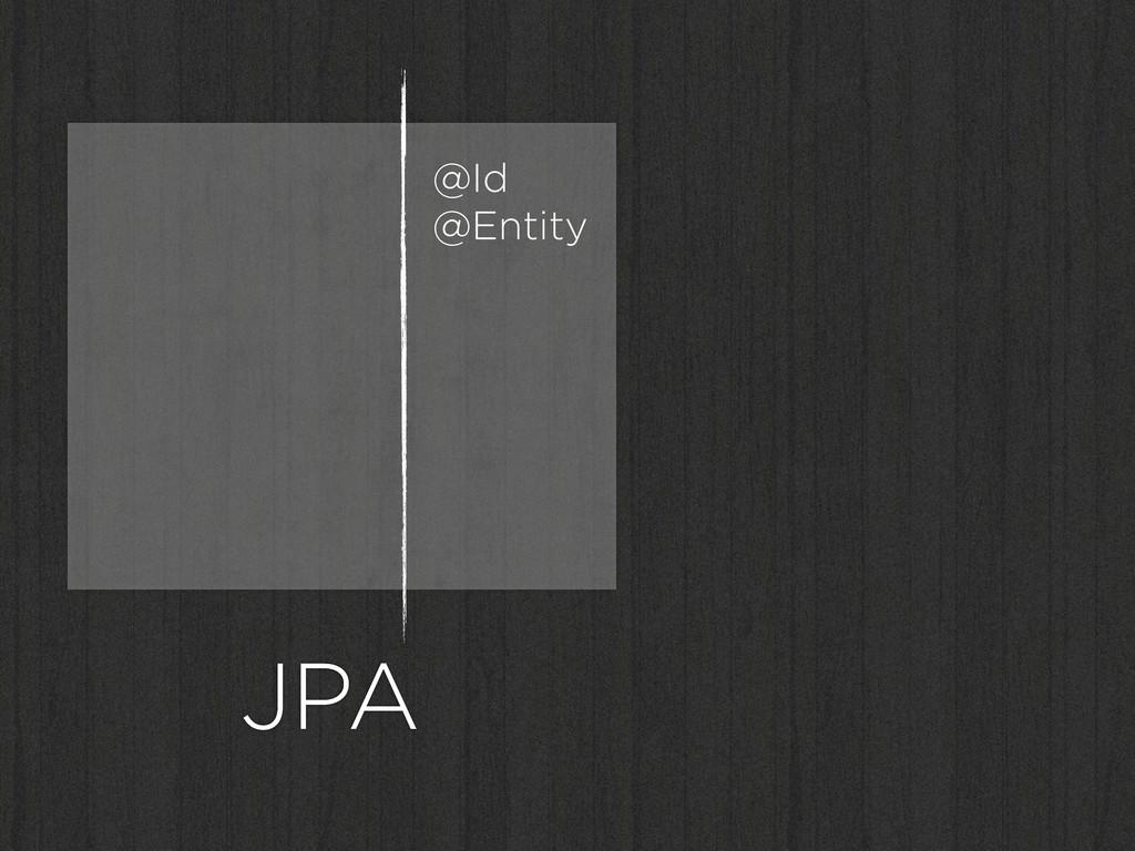 JPA @Id @Entity