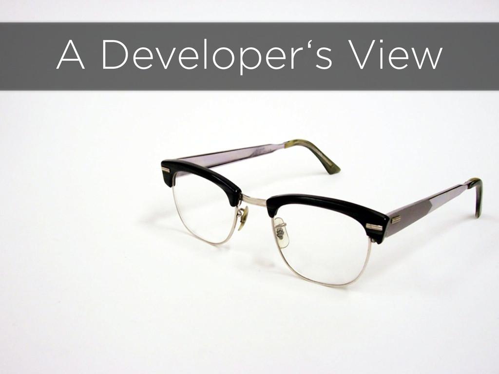 A Developer's View