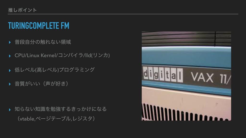 TURINGCOMPLETE FM ▸ ීஈࣗͷ৮Εͳ͍ྖҬ ▸ CPU/Linux Ker...