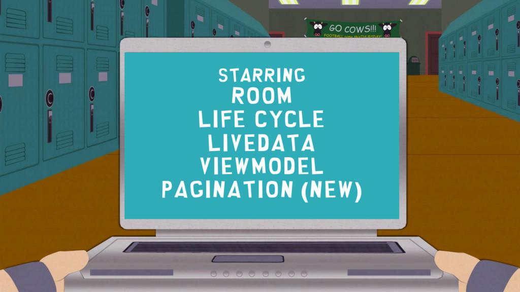 starring Room LiFe cycle LiveData ViewModel Pag...