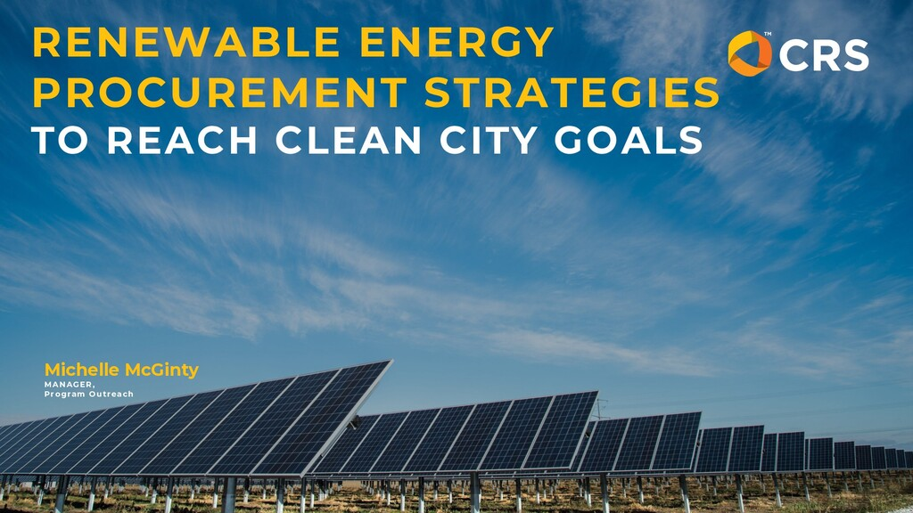 RENEWABLE ENERGY PROCUREMENT STRATEGIES TO REAC...