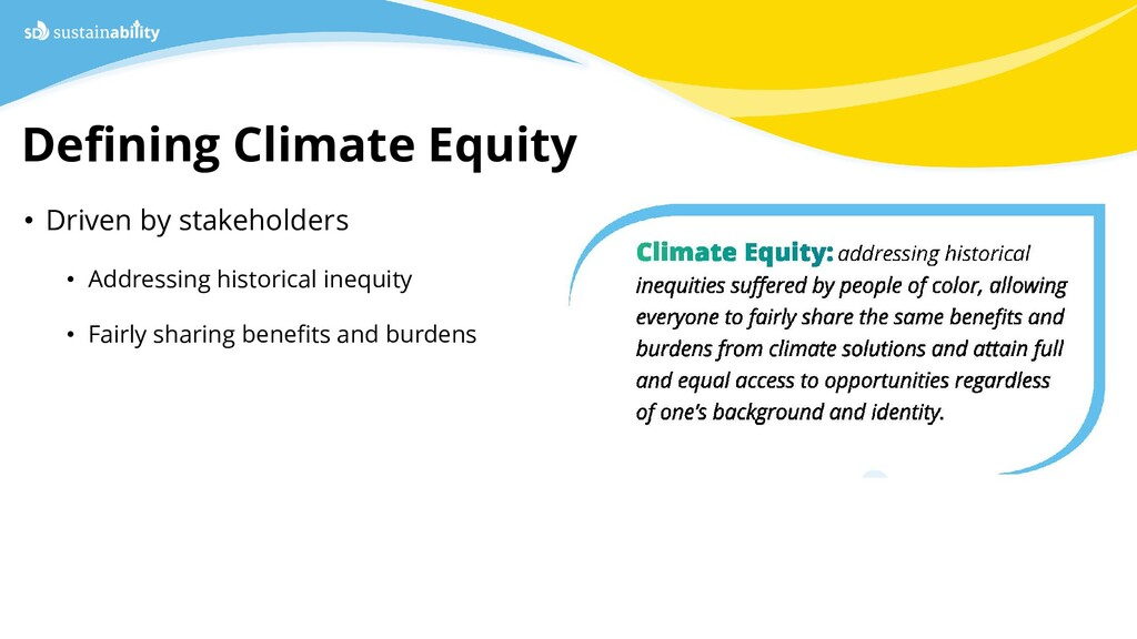 Defining Climate Equity Sustainability Departme...