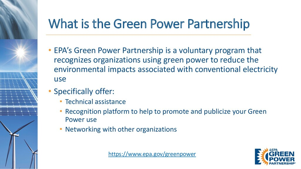 What is the Green Power Partnership • EPA's Gre...
