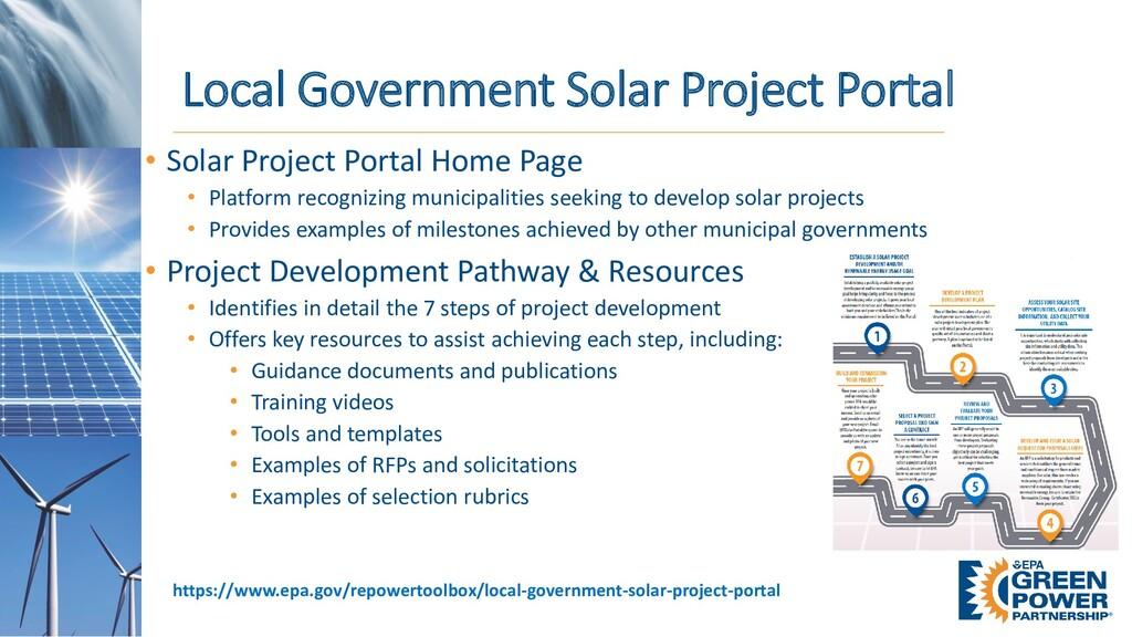 • Solar Project Portal Home Page • Platform rec...