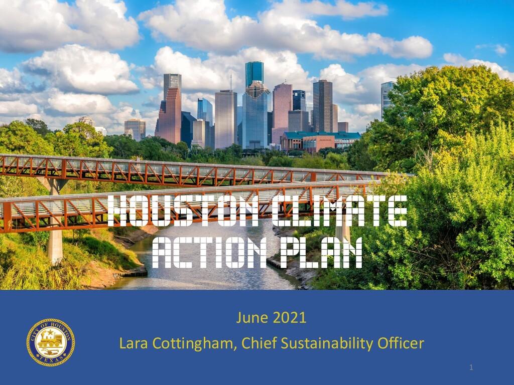 1 June 2021 Lara Cottingham, Chief Sustainabili...